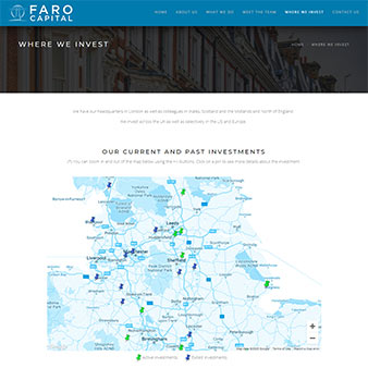 Faro capital investment map